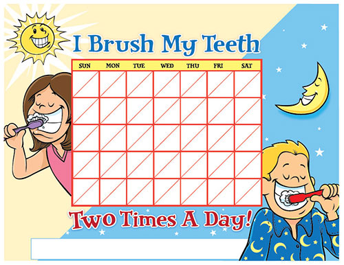 Color Brushing Chart for Children - Pediatric Dentist in Duncan, SC and Spartanburg County